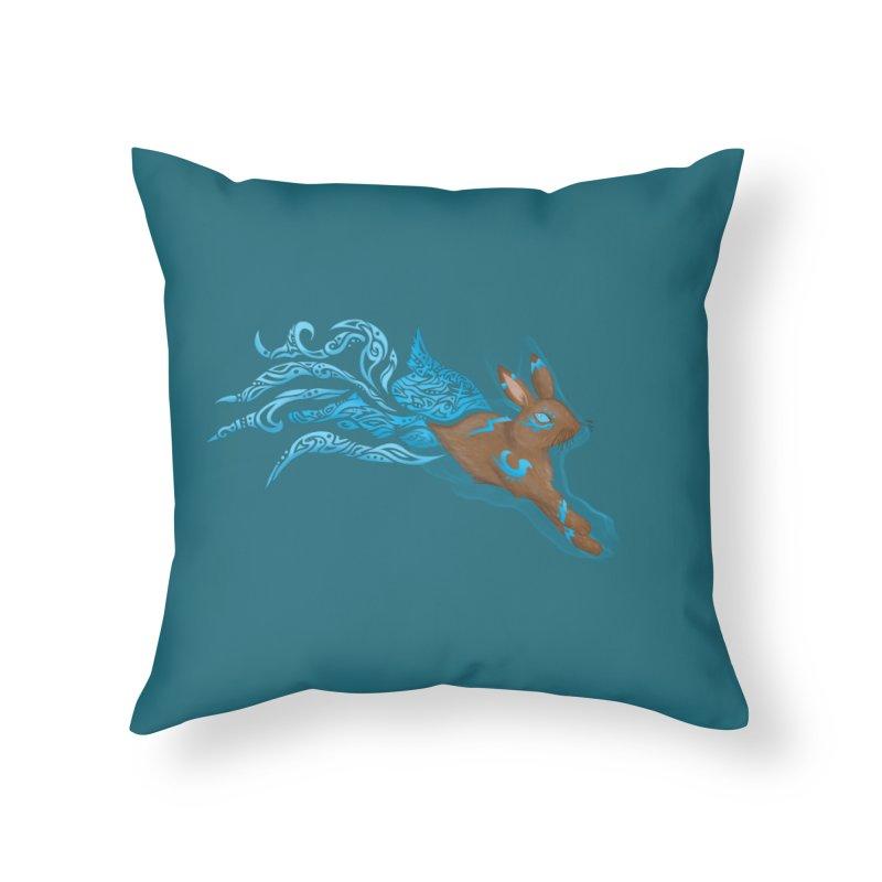 SPIRIT RABBIT Home Throw Pillow by greenlambart's Artist Shop