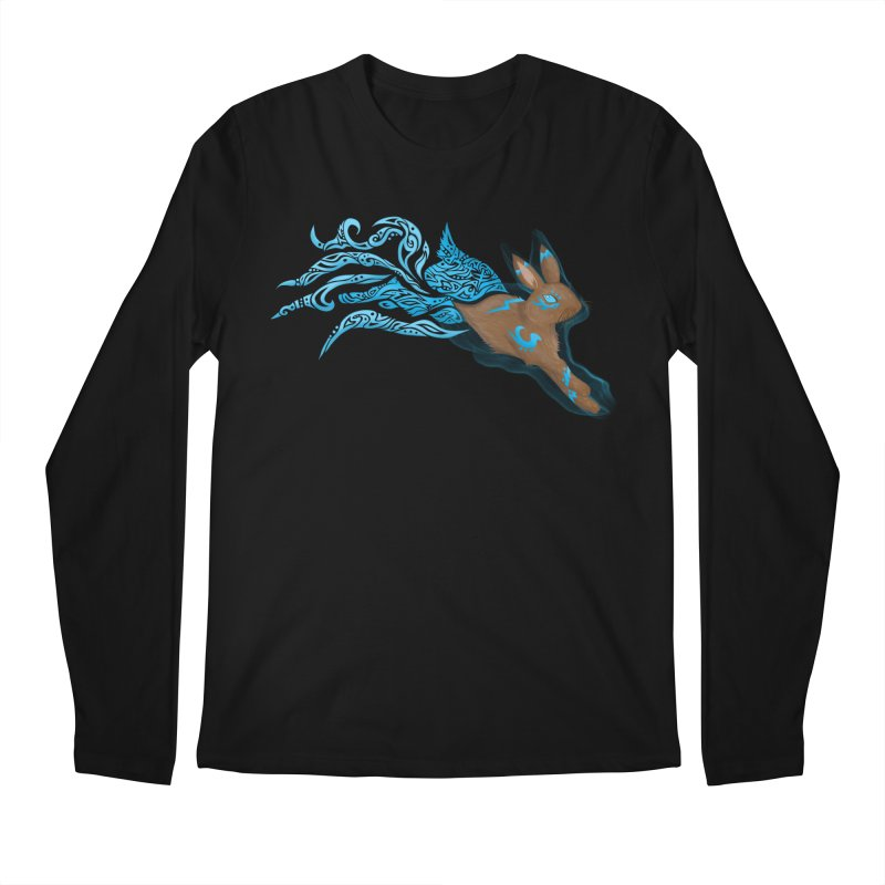 SPIRIT RABBIT Men's Regular Longsleeve T-Shirt by greenlambart's Artist Shop