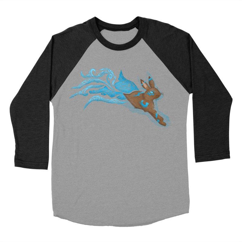 SPIRIT RABBIT Women's Baseball Triblend Longsleeve T-Shirt by greenlambart's Artist Shop