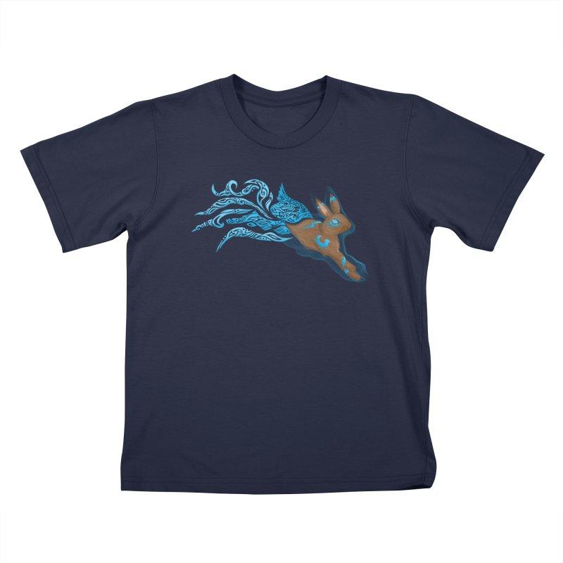 SPIRIT RABBIT Kids T-Shirt by greenlambart's Artist Shop