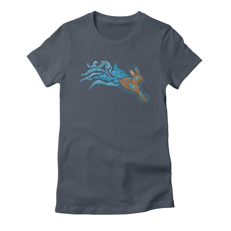SPIRIT RABBIT Women's T-Shirt by greenlambart's Artist Shop
