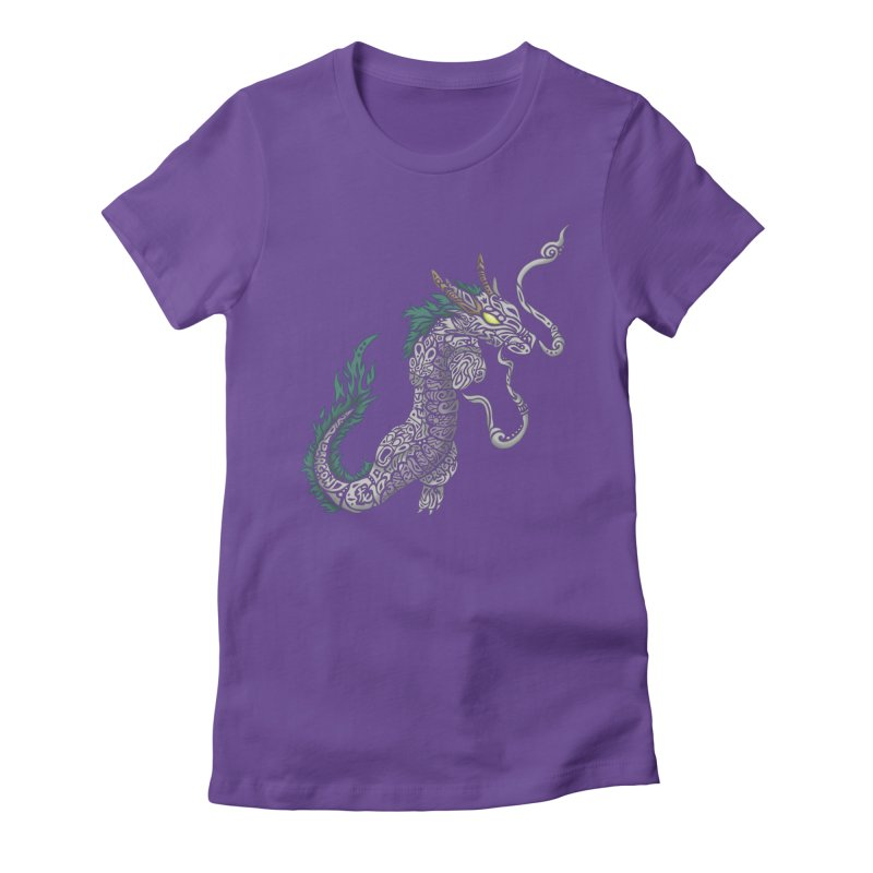 PEACEFUL SPIRIT Women's Fitted T-Shirt by greenlambart's Artist Shop