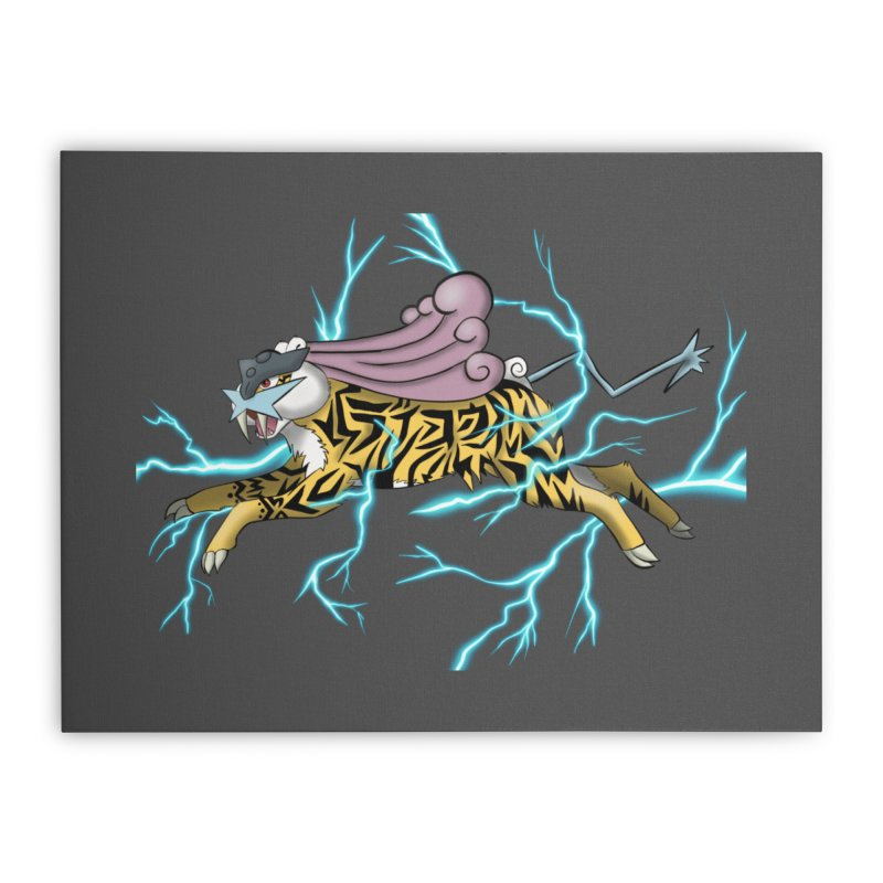 THUNDER Home Stretched Canvas by greenlambart's Artist Shop