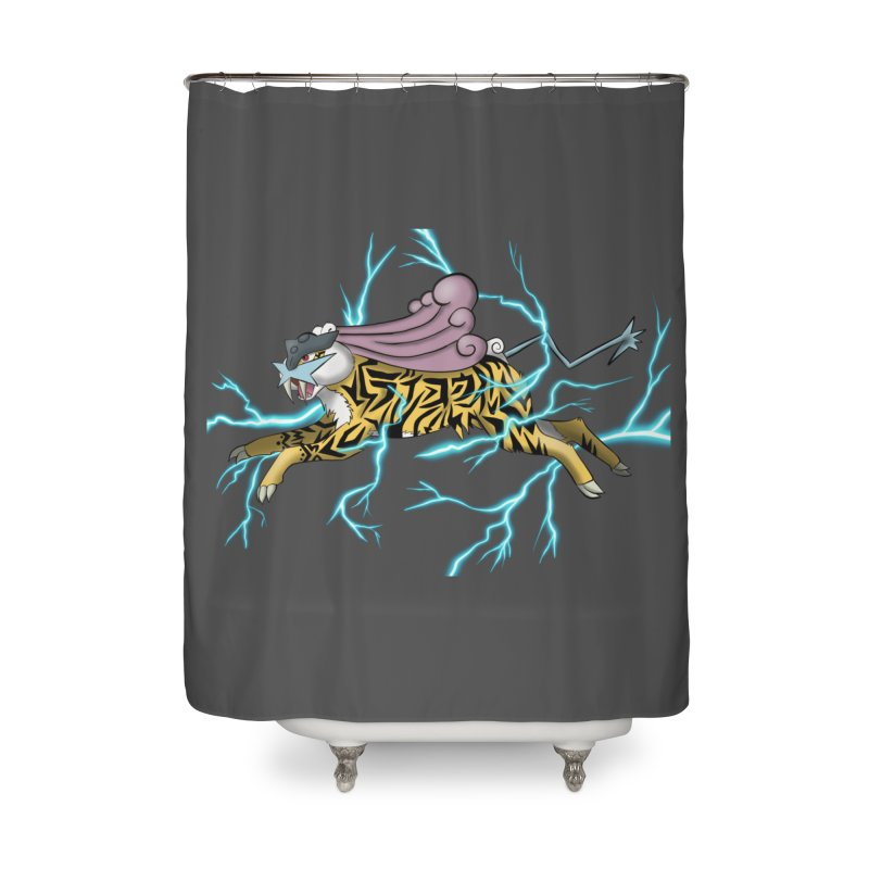 THUNDER Home Shower Curtain by greenlambart's Artist Shop
