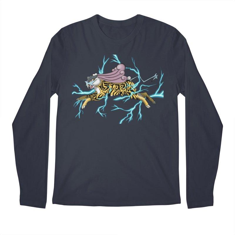 THUNDER Men's Regular Longsleeve T-Shirt by greenlambart's Artist Shop