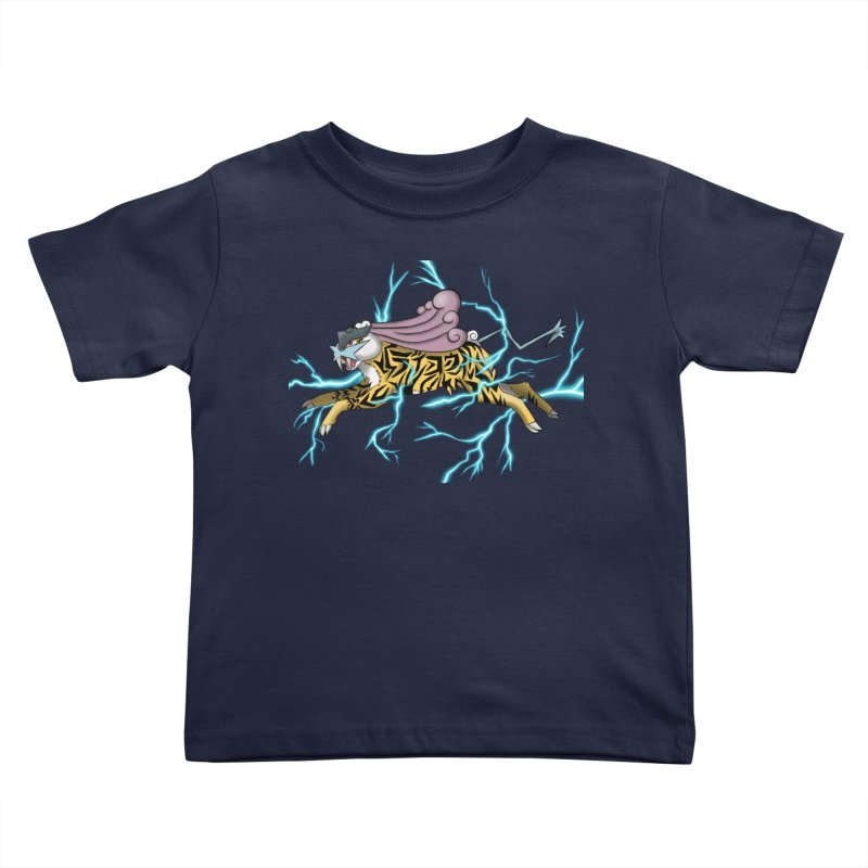 THUNDER Kids Toddler T-Shirt by greenlambart's Artist Shop