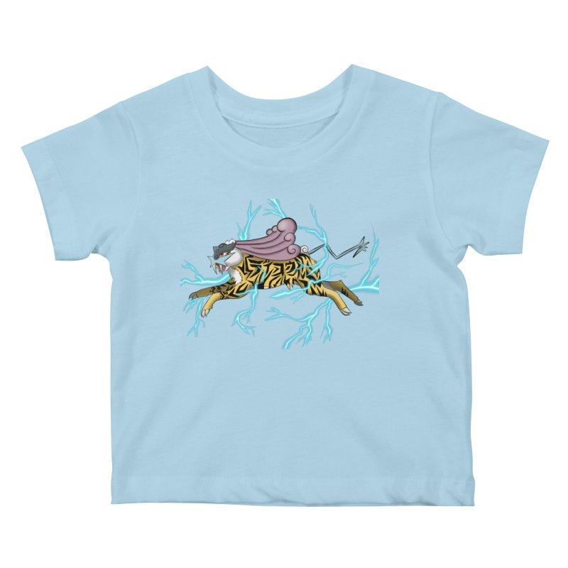 THUNDER Kids Baby T-Shirt by greenlambart's Artist Shop