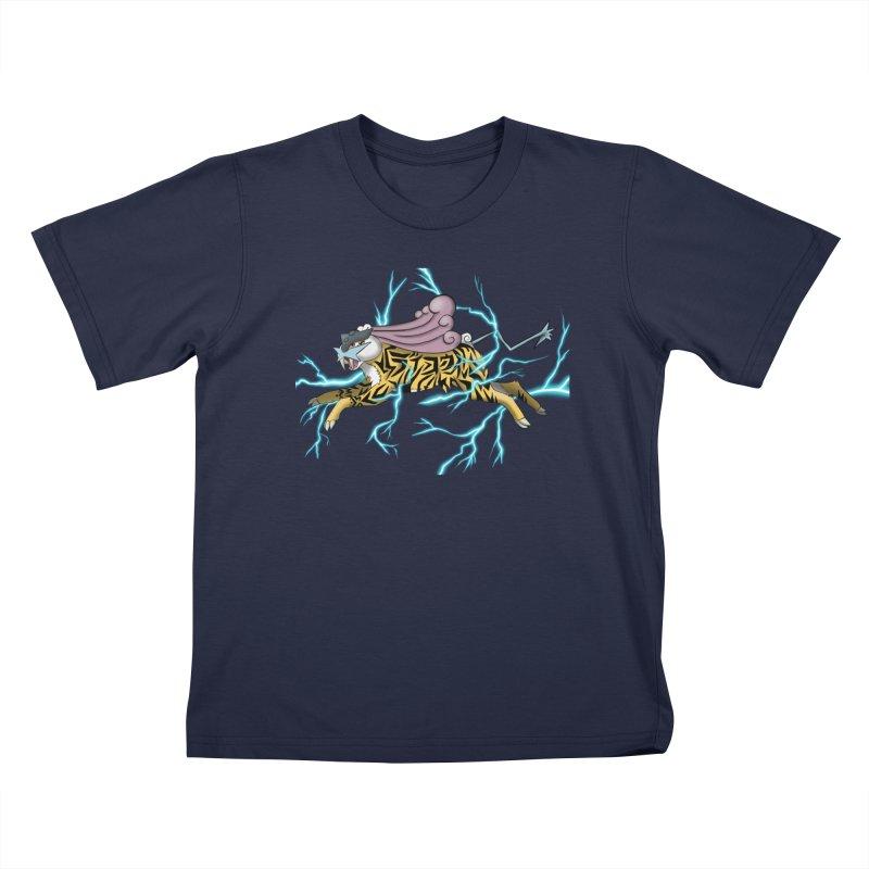 THUNDER Kids T-Shirt by greenlambart's Artist Shop