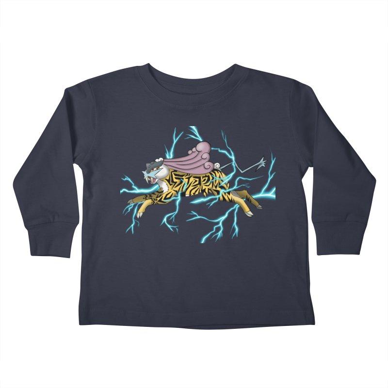 THUNDER Kids Toddler Longsleeve T-Shirt by greenlambart's Artist Shop