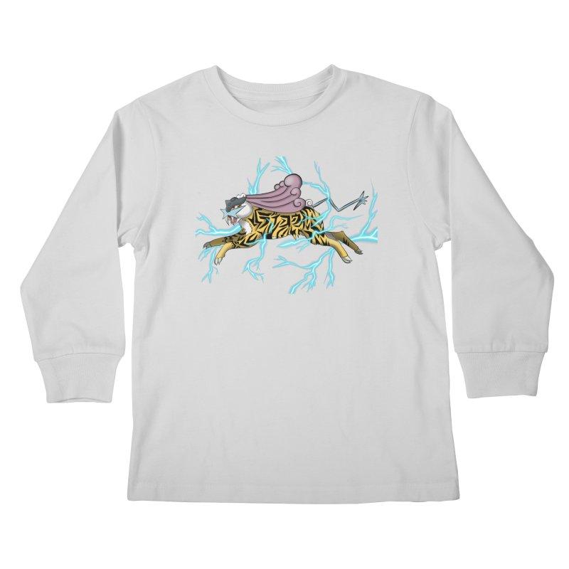 THUNDER Kids Longsleeve T-Shirt by greenlambart's Artist Shop