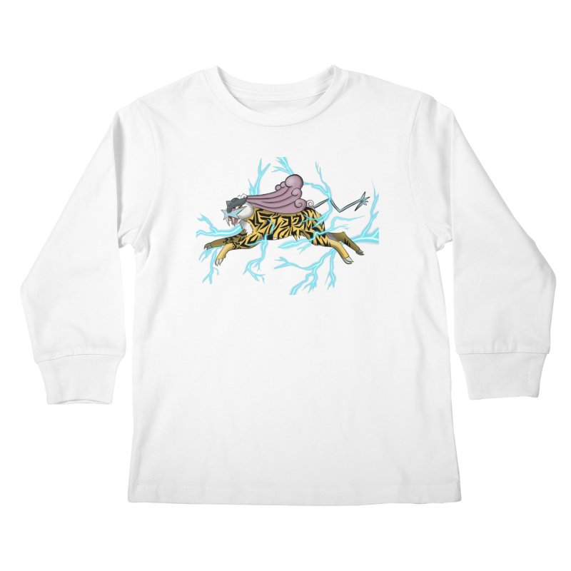 THUNDER Kids Longsleeve T-Shirt by greenlambart's Artist Shop