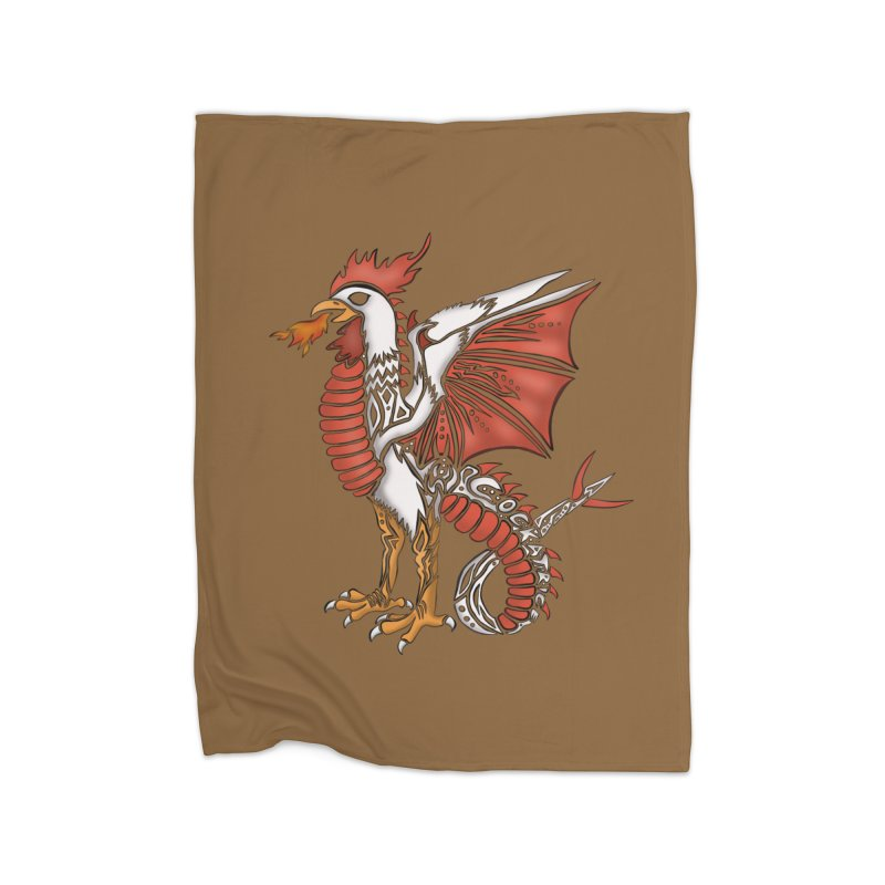 COCKATRICE Home Fleece Blanket Blanket by greenlambart's Artist Shop