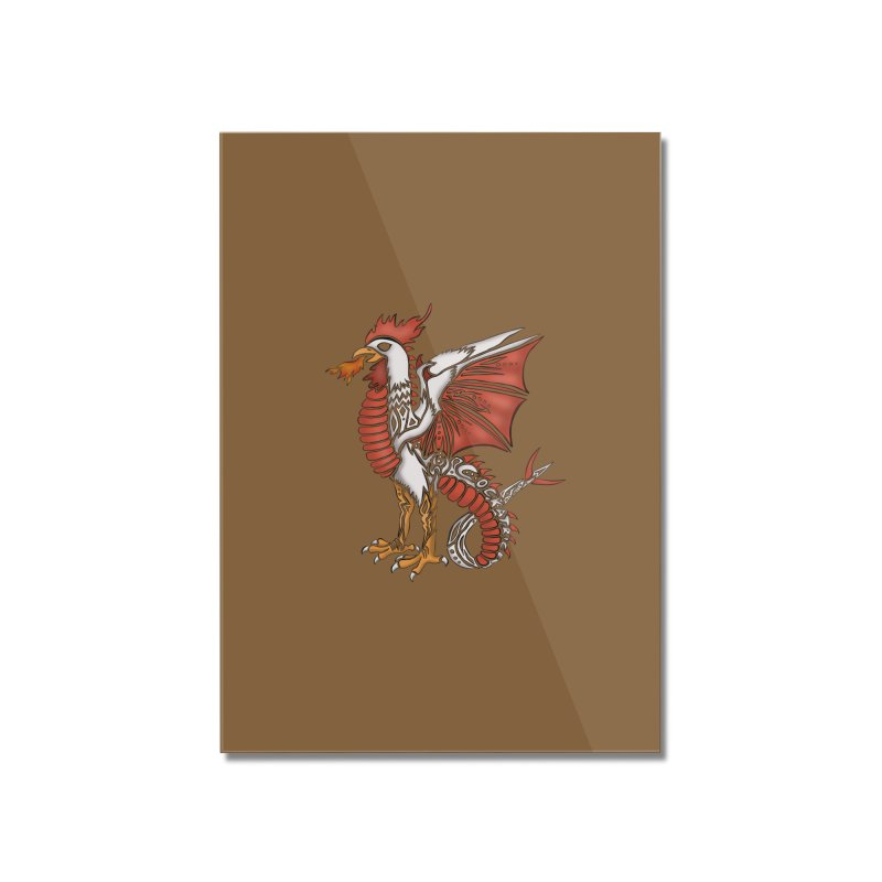 COCKATRICE Home Mounted Acrylic Print by greenlambart's Artist Shop