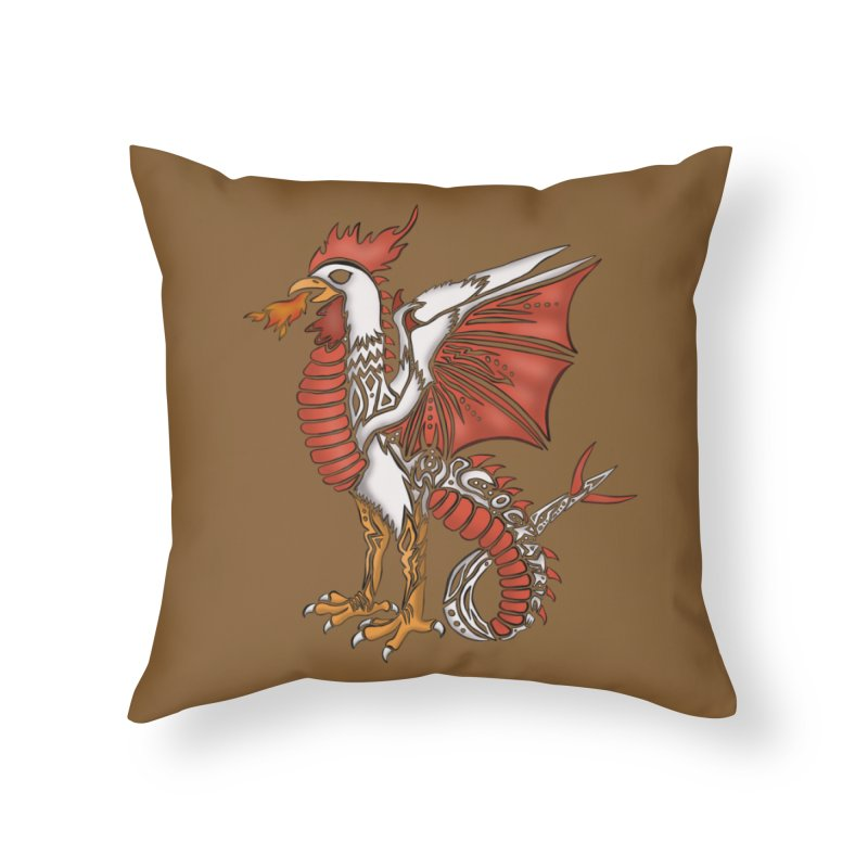 COCKATRICE Home Throw Pillow by greenlambart's Artist Shop