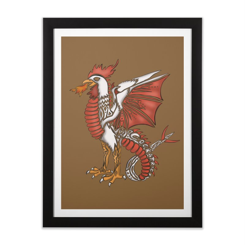 COCKATRICE Home Framed Fine Art Print by greenlambart's Artist Shop
