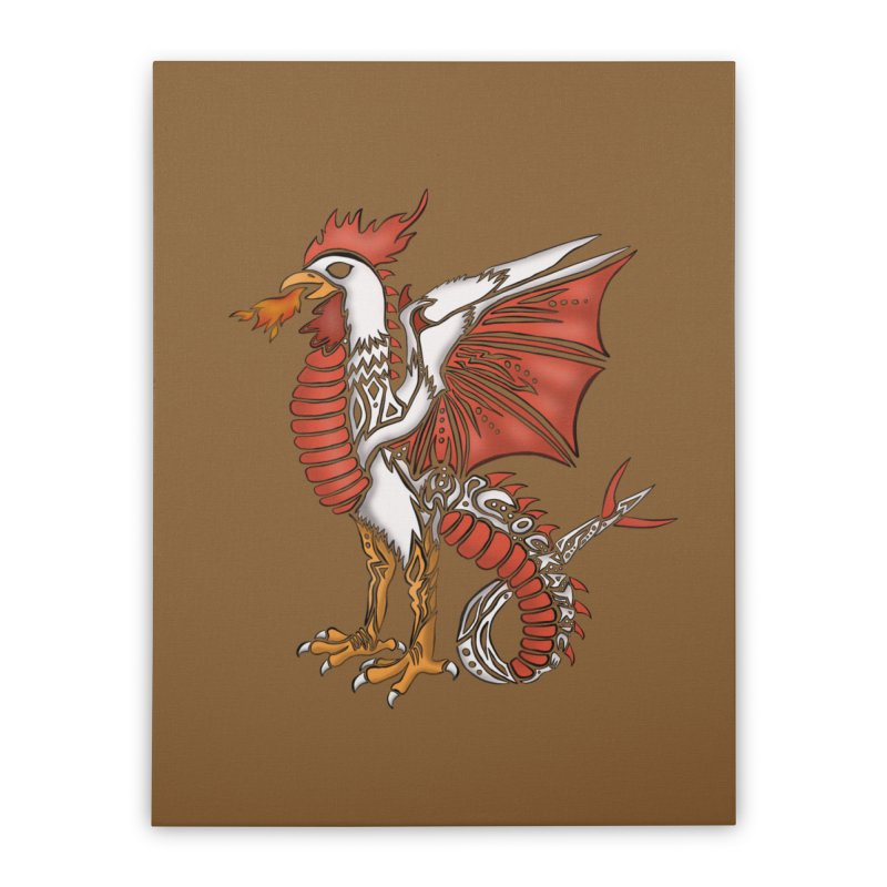 COCKATRICE Home Stretched Canvas by greenlambart's Artist Shop