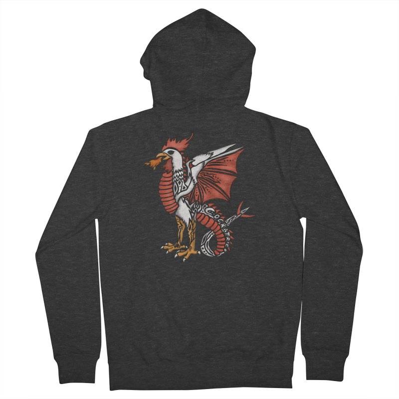 COCKATRICE Men's French Terry Zip-Up Hoody by greenlambart's Artist Shop