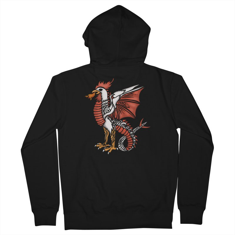 COCKATRICE Men's Zip-Up Hoody by greenlambart's Artist Shop