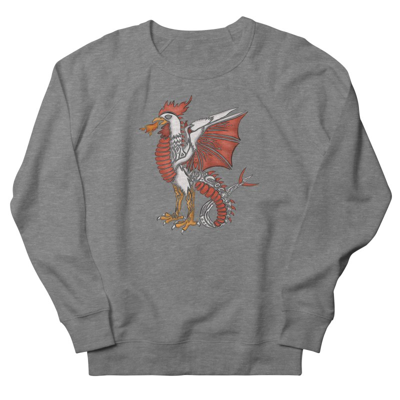 COCKATRICE Men's French Terry Sweatshirt by greenlambart's Artist Shop