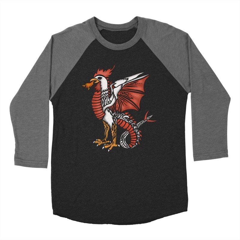 COCKATRICE Men's Baseball Triblend Longsleeve T-Shirt by greenlambart's Artist Shop