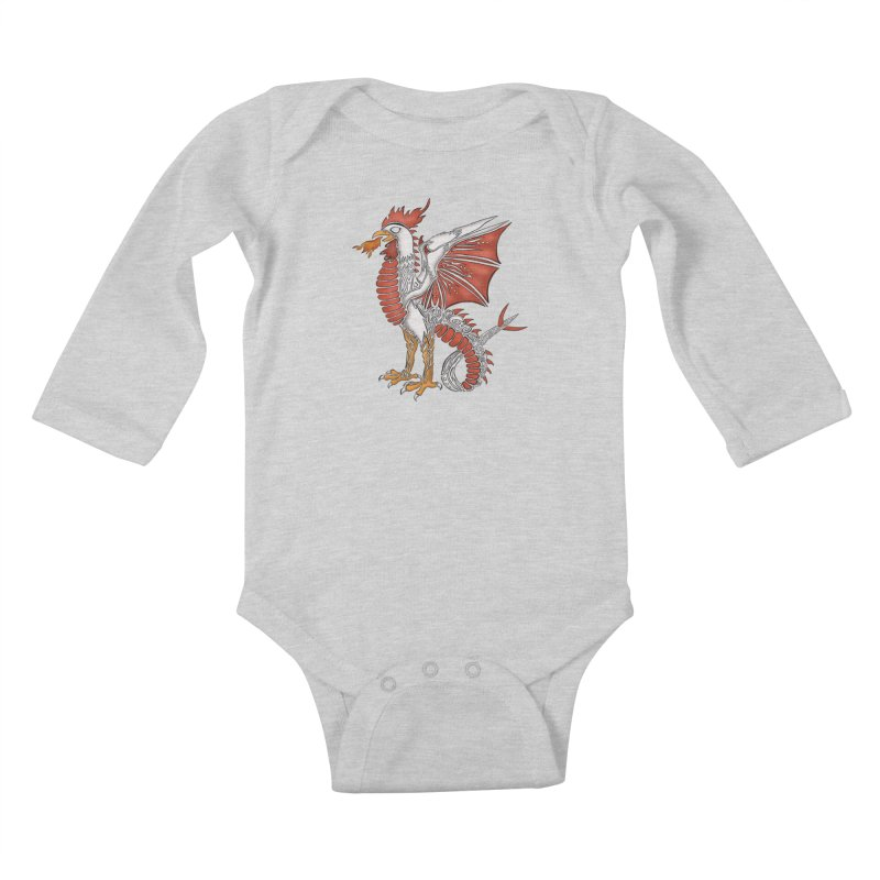 COCKATRICE Kids Baby Longsleeve Bodysuit by greenlambart's Artist Shop