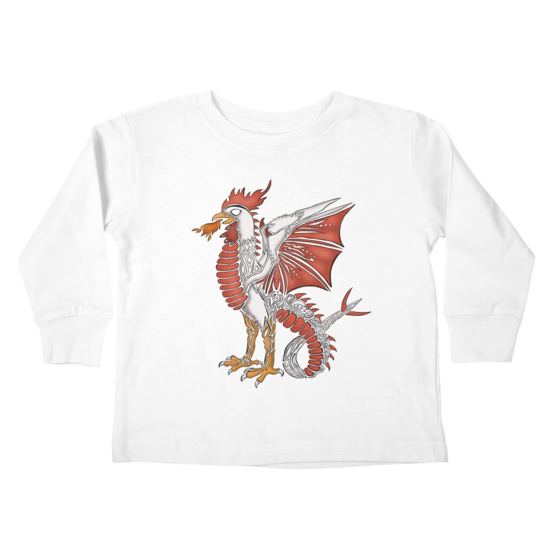 COCKATRICE Kids Toddler Longsleeve T-Shirt by greenlambart's Artist Shop