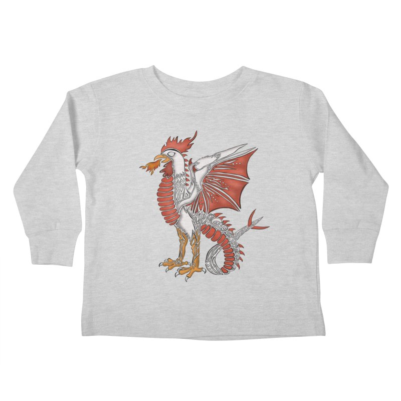 COCKATRICE Kids Toddler Longsleeve T-Shirt by greenlambart's Artist Shop