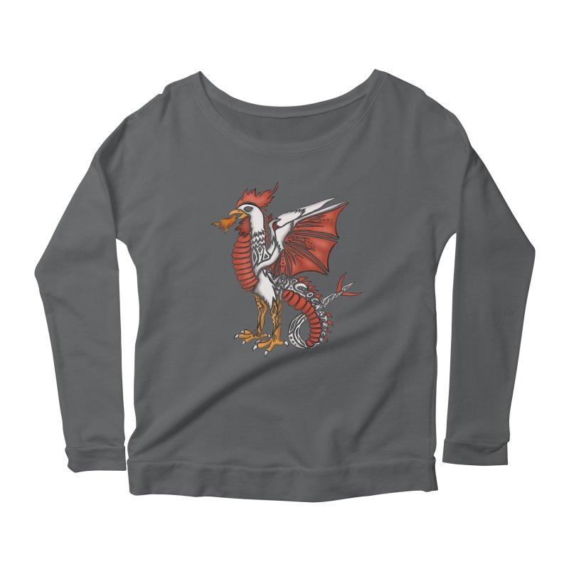 COCKATRICE Women's Scoop Neck Longsleeve T-Shirt by greenlambart's Artist Shop