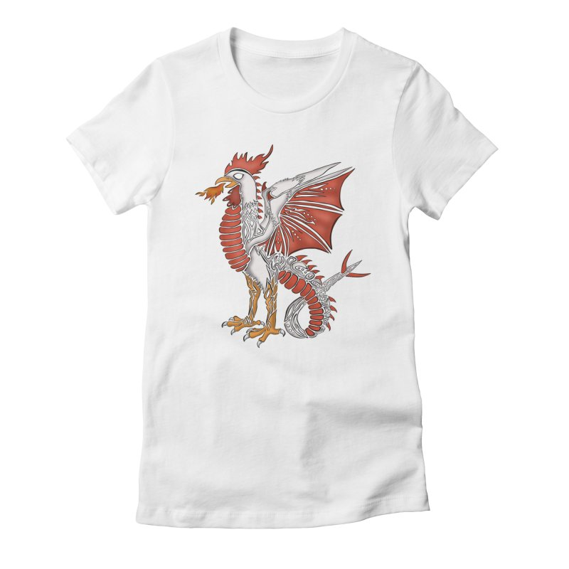 COCKATRICE Women's Fitted T-Shirt by greenlambart's Artist Shop