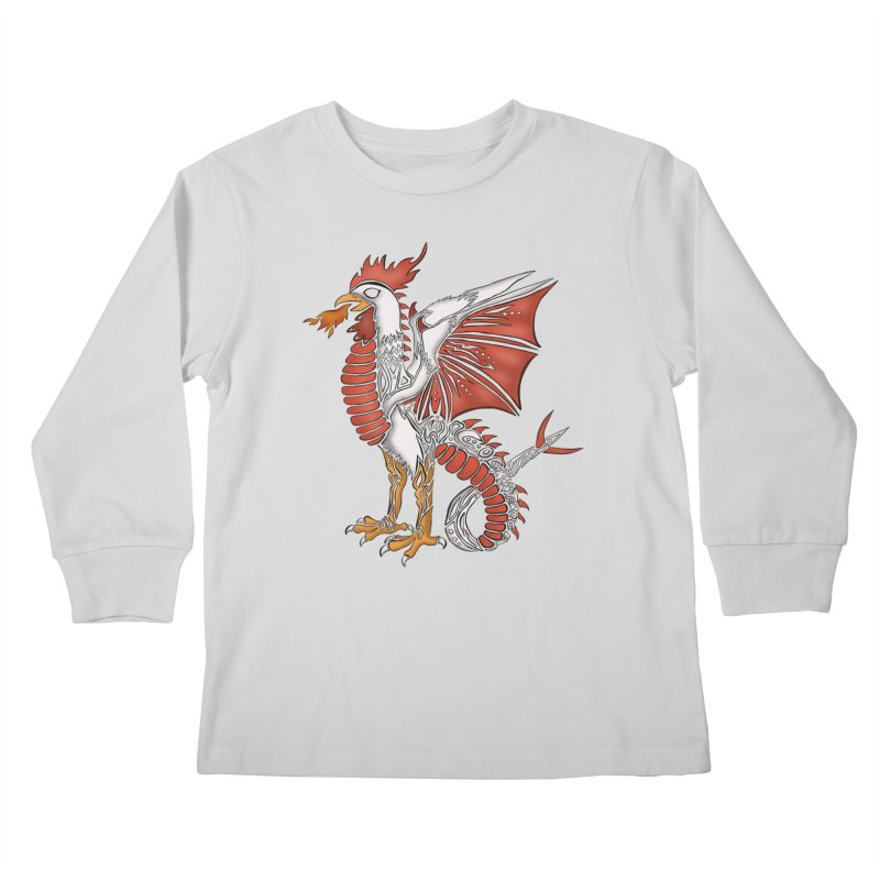COCKATRICE Kids Longsleeve T-Shirt by greenlambart's Artist Shop