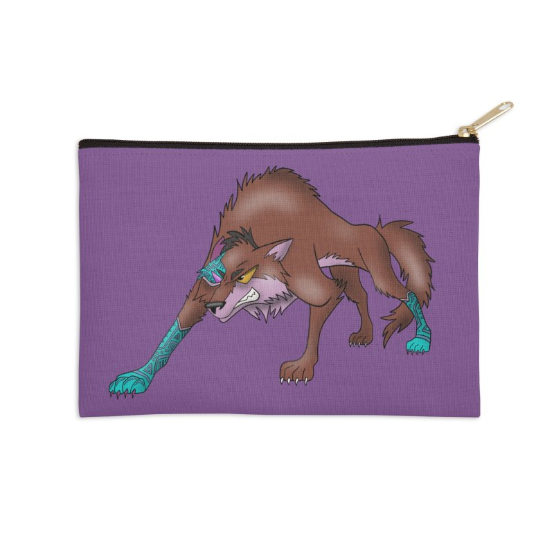 CYBER WOLF Accessories Zip Pouch by greenlambart's Artist Shop