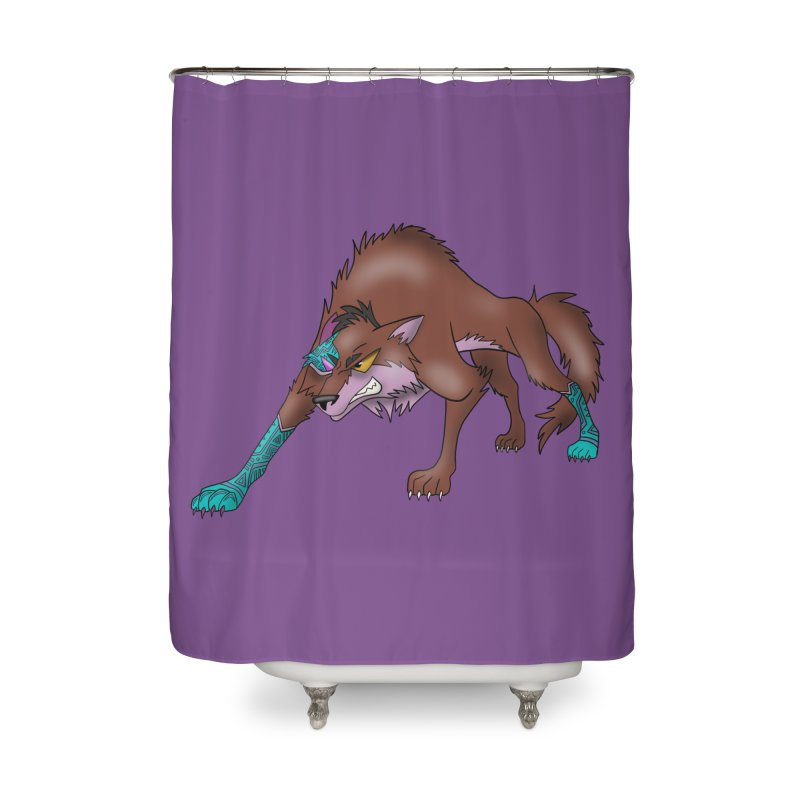 CYBER WOLF Home Shower Curtain by greenlambart's Artist Shop