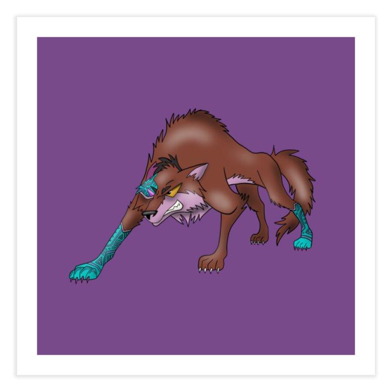 CYBER WOLF Home Fine Art Print by greenlambart's Artist Shop