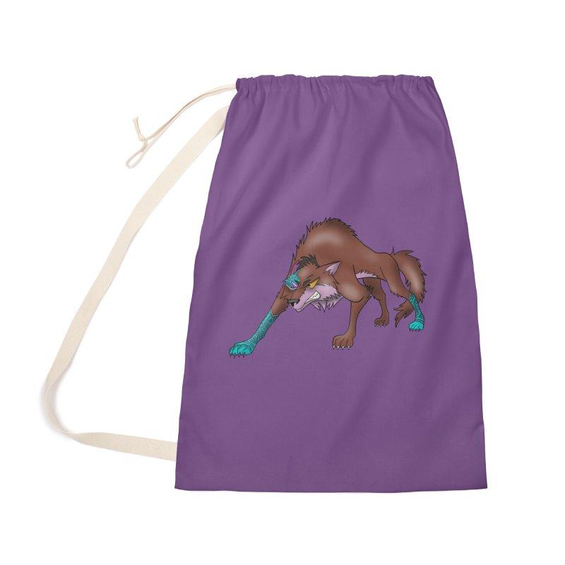 CYBER WOLF Accessories Bag by greenlambart's Artist Shop