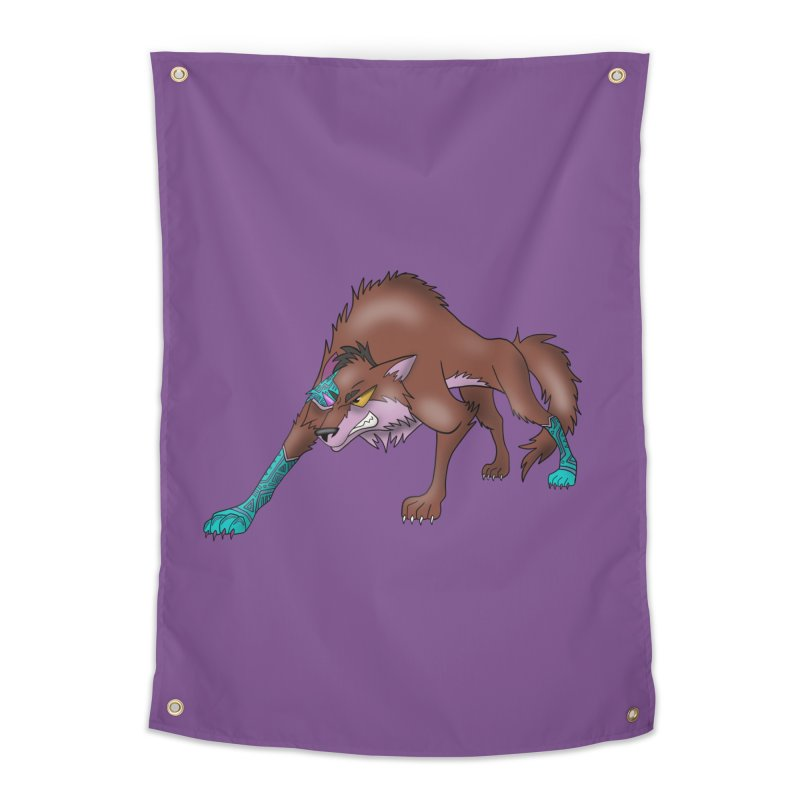 CYBER WOLF Home Tapestry by greenlambart's Artist Shop