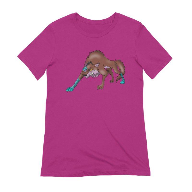 CYBER WOLF Women's Extra Soft T-Shirt by greenlambart's Artist Shop
