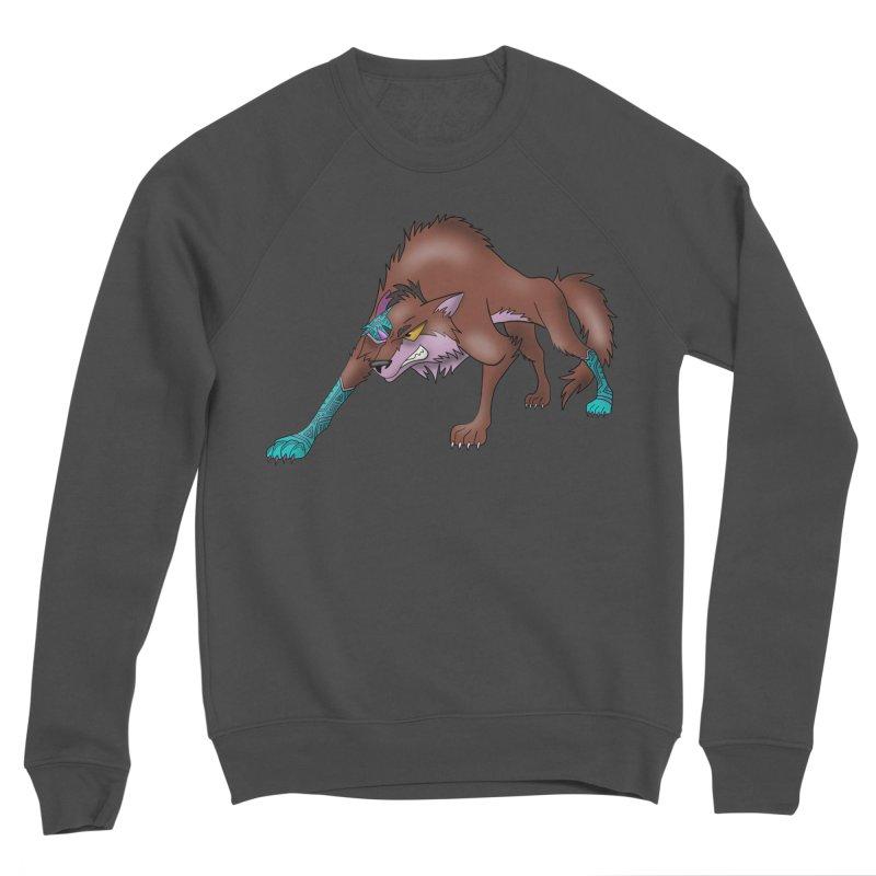 CYBER WOLF Women's Sponge Fleece Sweatshirt by greenlambart's Artist Shop