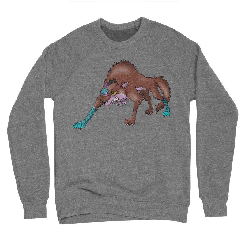 CYBER WOLF Men's Sponge Fleece Sweatshirt by greenlambart's Artist Shop