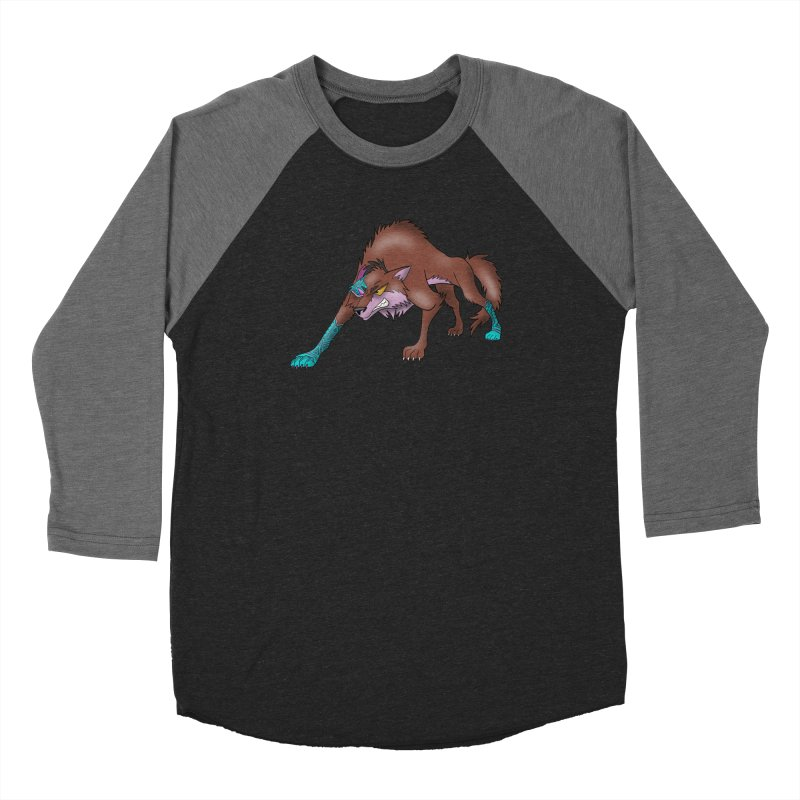 CYBER WOLF Women's Baseball Triblend Longsleeve T-Shirt by greenlambart's Artist Shop