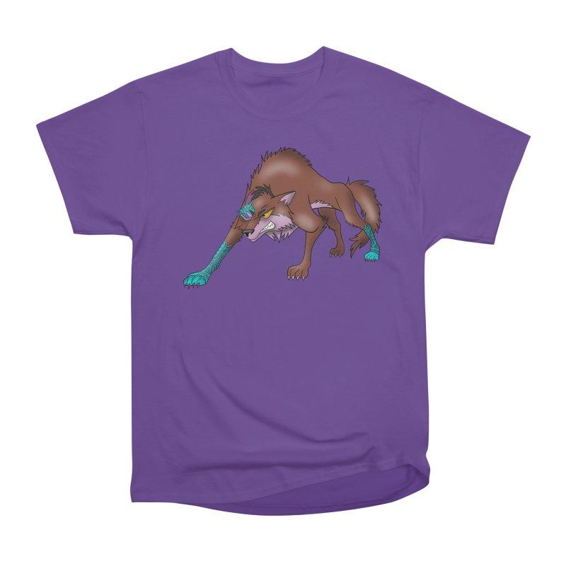 CYBER WOLF Women's Heavyweight Unisex T-Shirt by greenlambart's Artist Shop