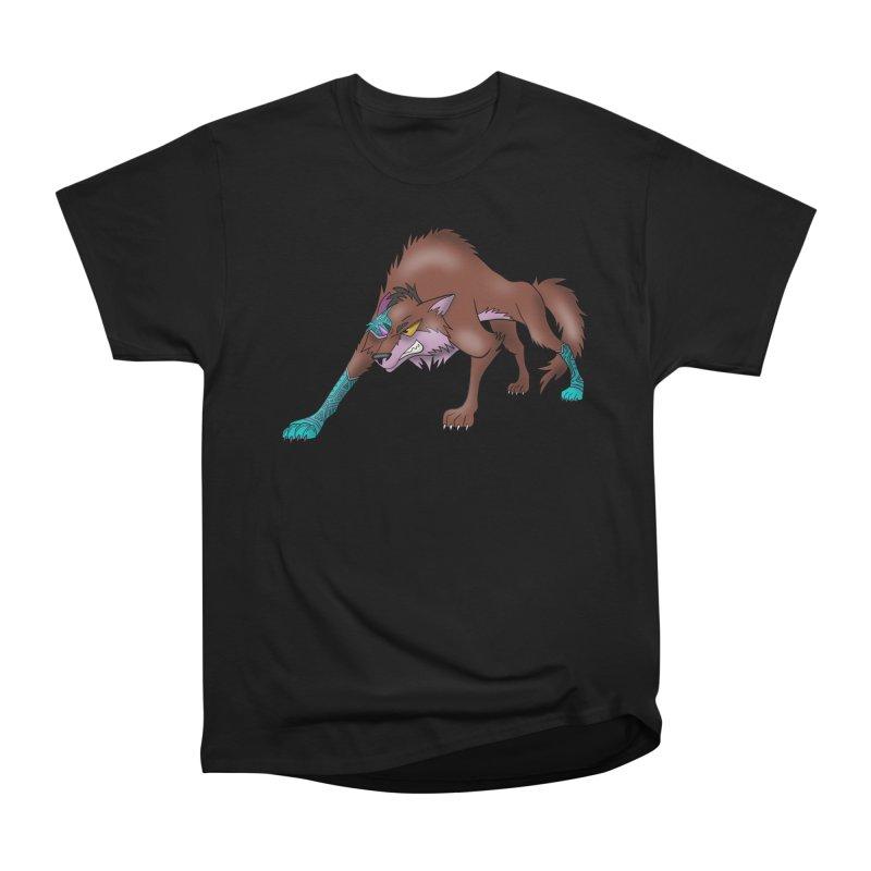 CYBER WOLF Men's T-Shirt by greenlambart's Artist Shop