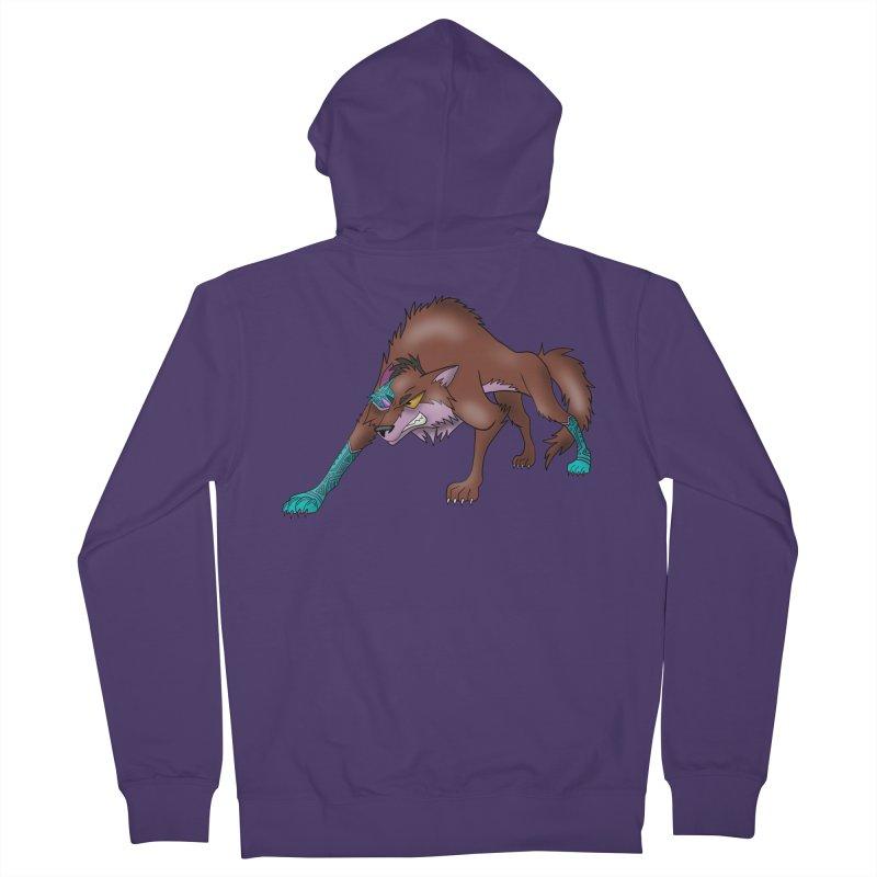 CYBER WOLF Women's Zip-Up Hoody by greenlambart's Artist Shop