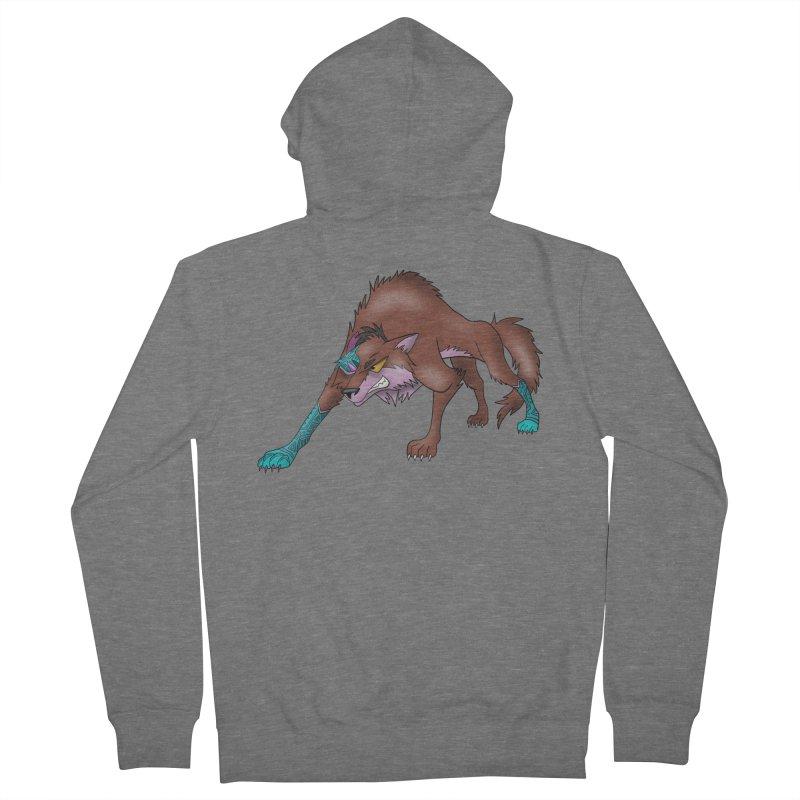 CYBER WOLF Men's Zip-Up Hoody by greenlambart's Artist Shop