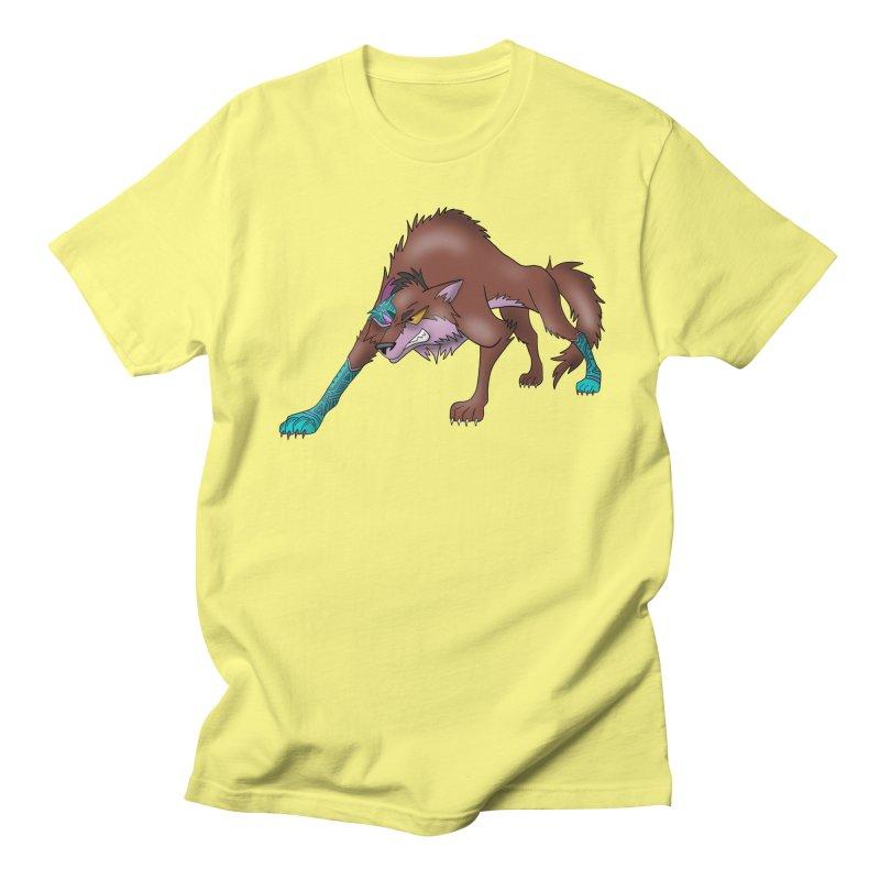 CYBER WOLF Men's Regular T-Shirt by greenlambart's Artist Shop