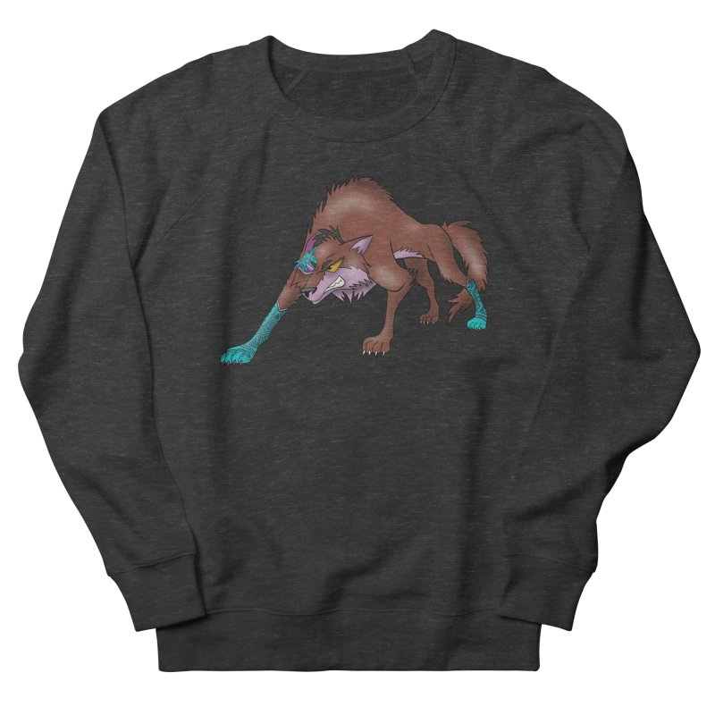 CYBER WOLF Women's Sweatshirt by greenlambart's Artist Shop