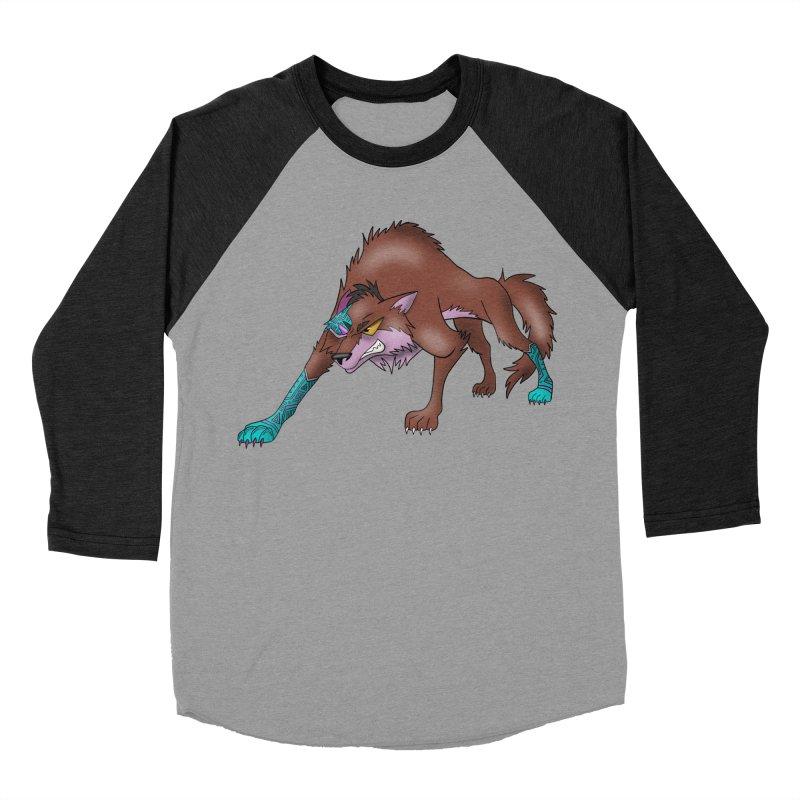 CYBER WOLF Women's Baseball Triblend Longsleeve T-Shirt by greenlambart's Artist Shop