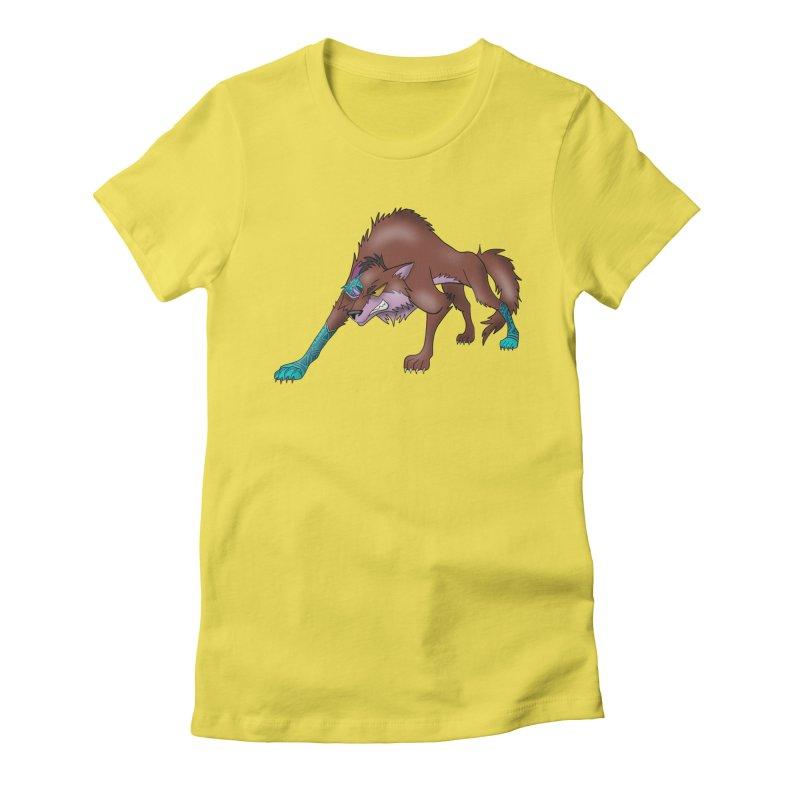 CYBER WOLF Women's T-Shirt by greenlambart's Artist Shop