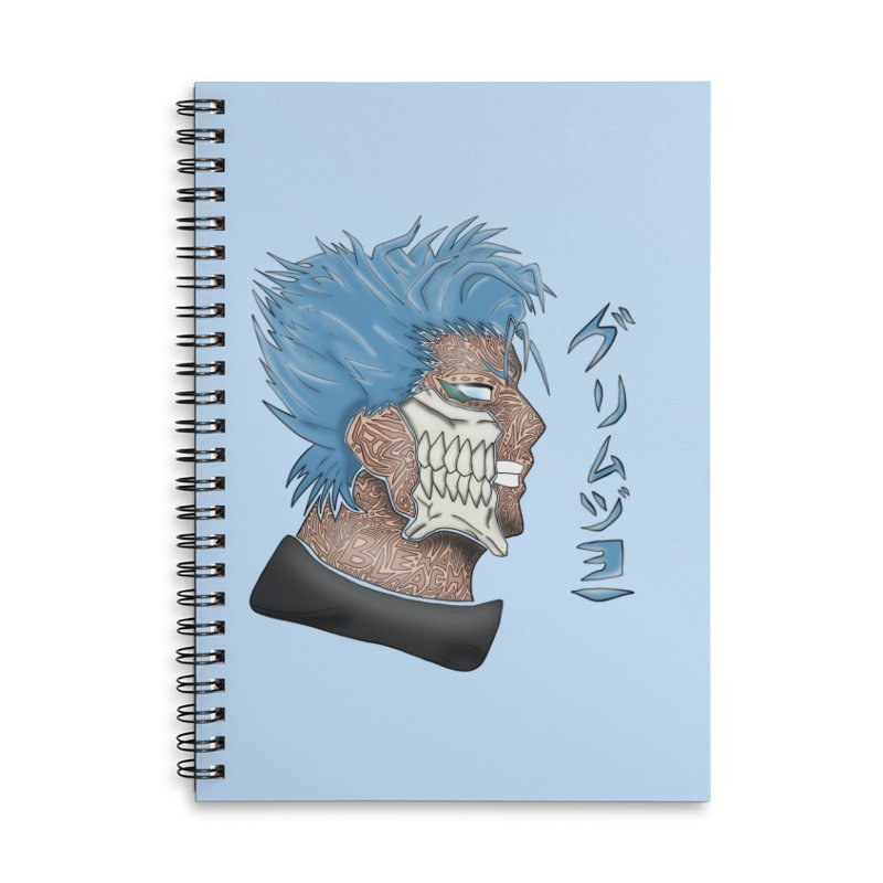 GRIMMJOW Accessories Lined Spiral Notebook by greenlambart's Artist Shop