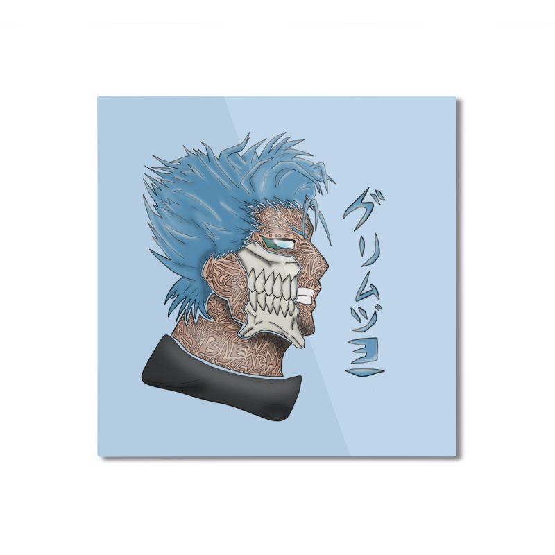 GRIMMJOW Home Mounted Aluminum Print by greenlambart's Artist Shop