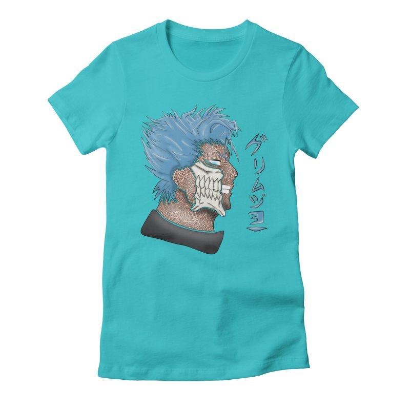 GRIMMJOW Women's Fitted T-Shirt by greenlambart's Artist Shop